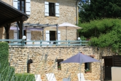 La Chataigne 10x8m private pool and terrace.  The pool is securely fenced with a self-closing, lockable gate