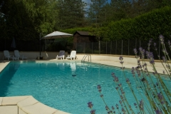 La Grange 12x6m private pool, securely fenced with self-closing, lockable gate.